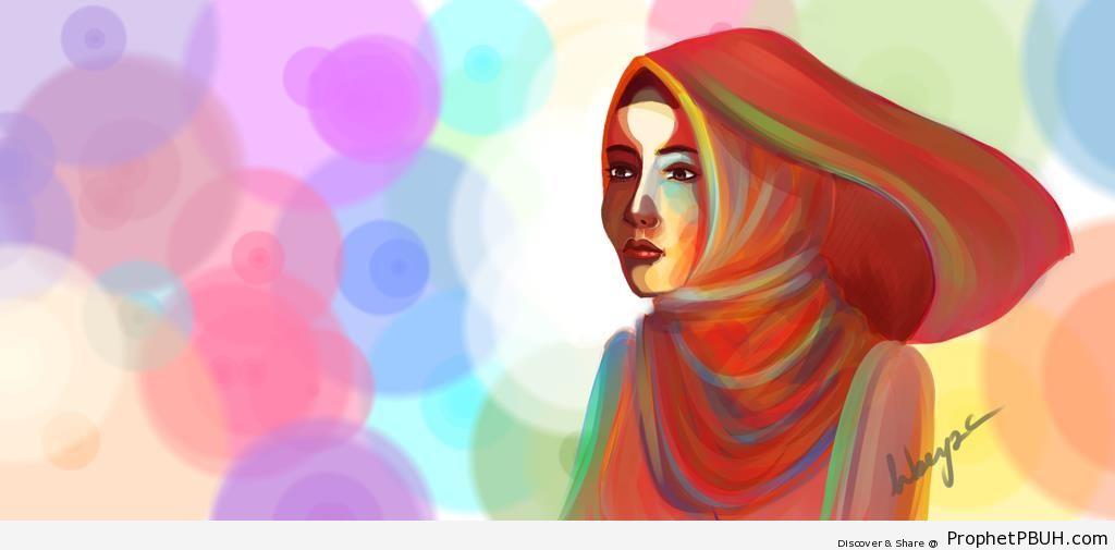 Muslim Woman (Drawing) - Drawings