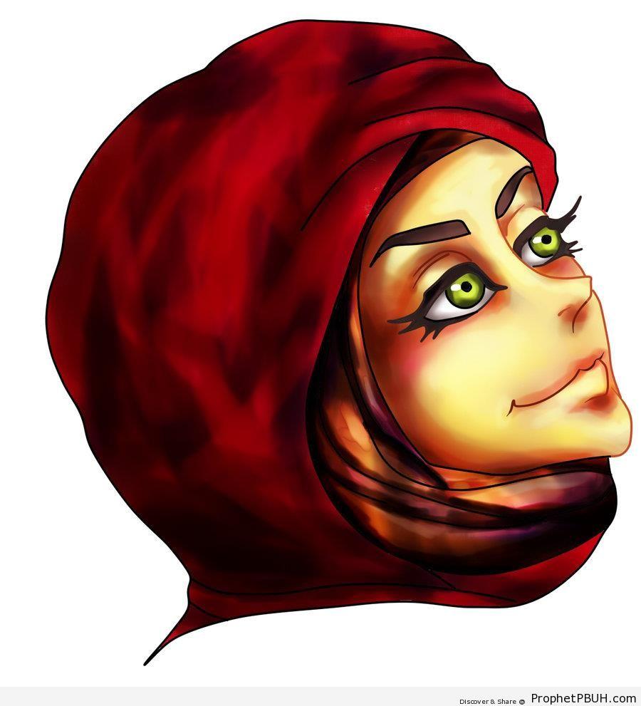 Muslim Woman - Drawings -006