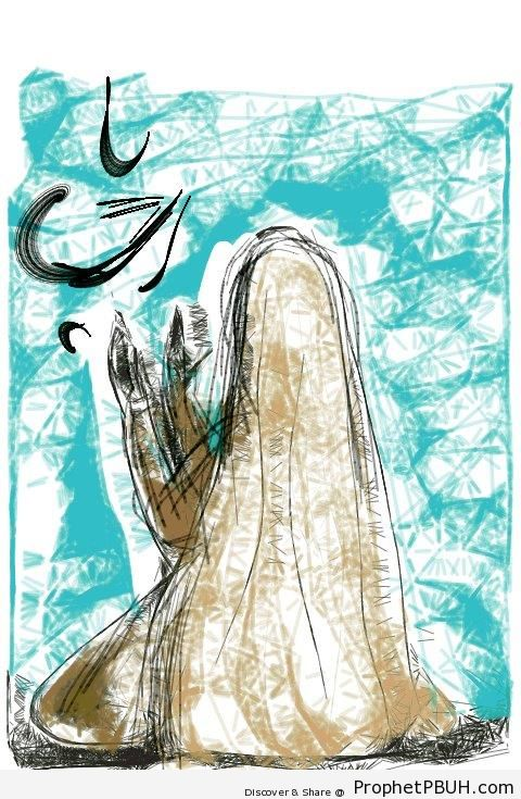 Muslim Woman in Prayer - Drawings