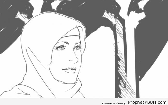Muslimah Drawing - Drawings