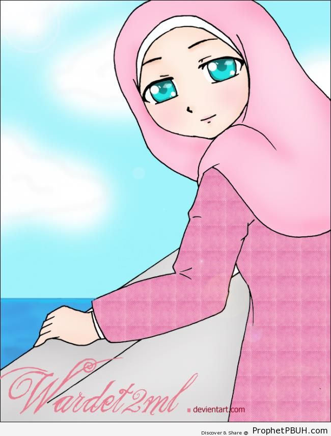 Muslimah by the Sea - Drawings