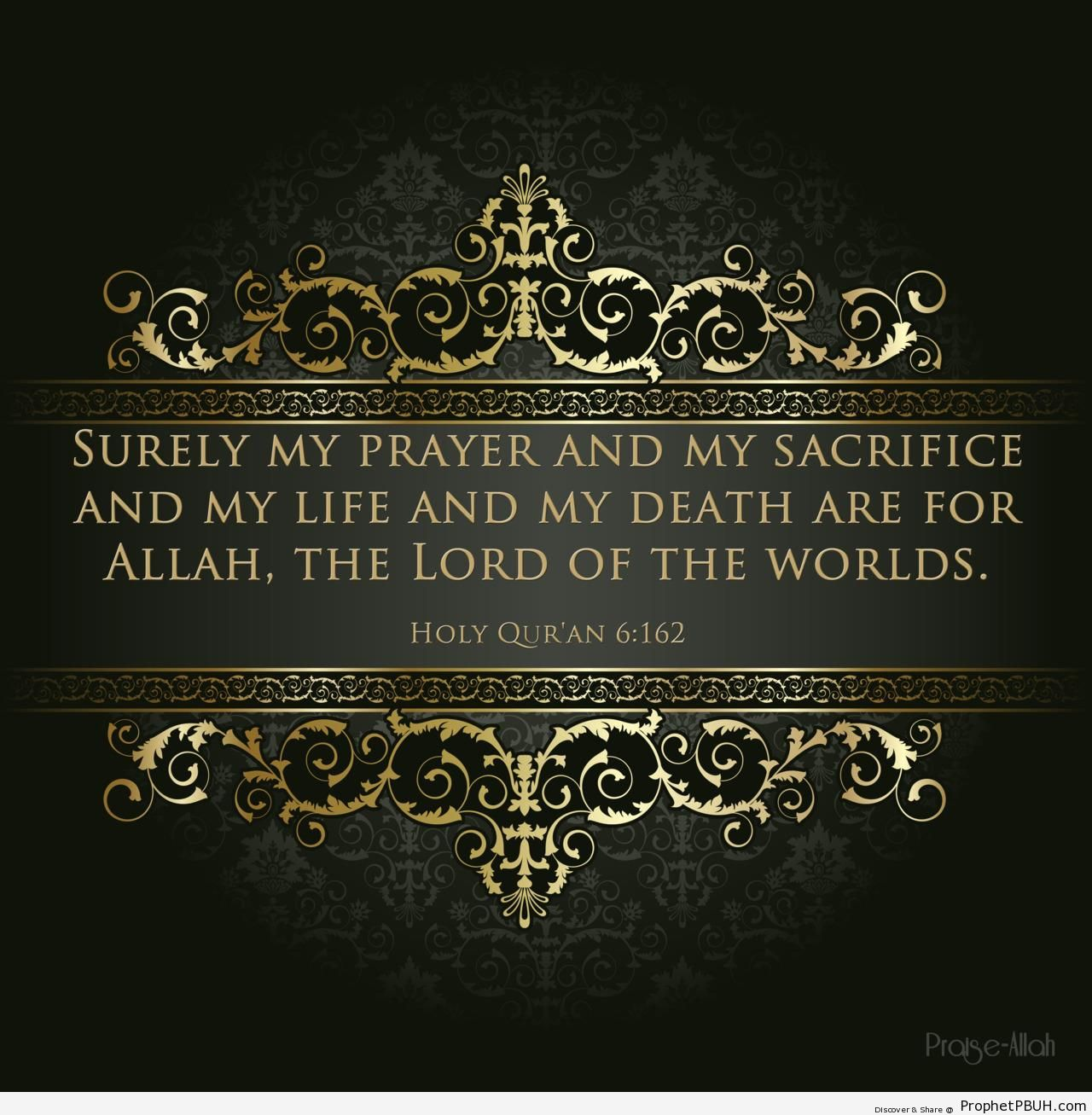 My Prayer and My Sacrifice (Surat al-An-am; Quran 6-162) - Islamic Quotes About Salah (Formal Prayer)
