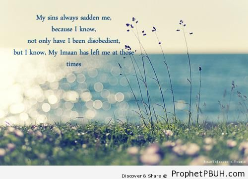 My Sins - Islamic Quotes About Iman (Faith in Allah)