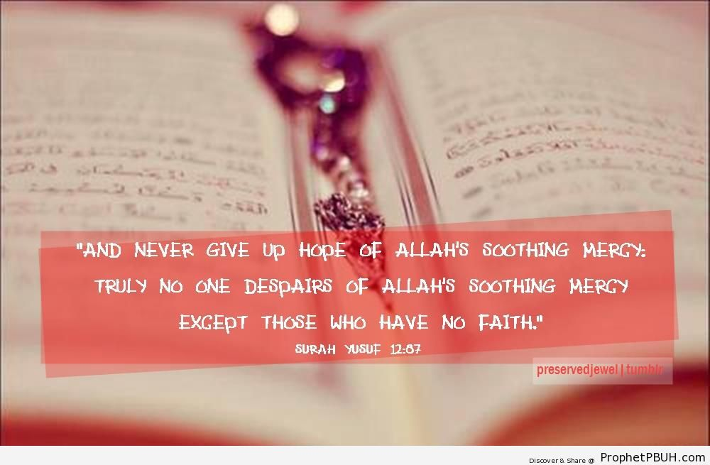 Quran Tumblr Pink Never Give Up Hope  Quran
