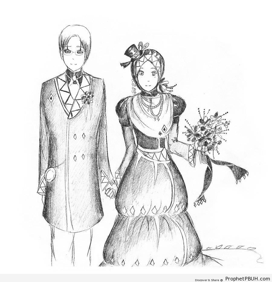 Newly Wed Couple - Drawings