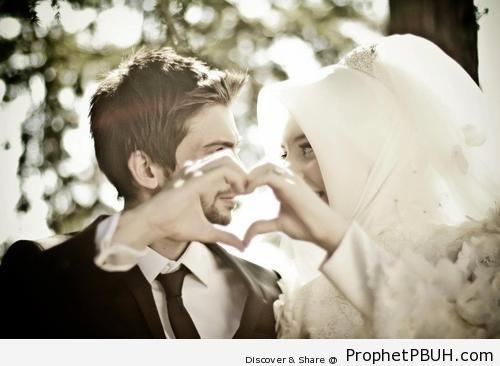 Newly Wed Muslim Couple Photo - Muslimah Photos (Girls and Women & Hijab Photos)
