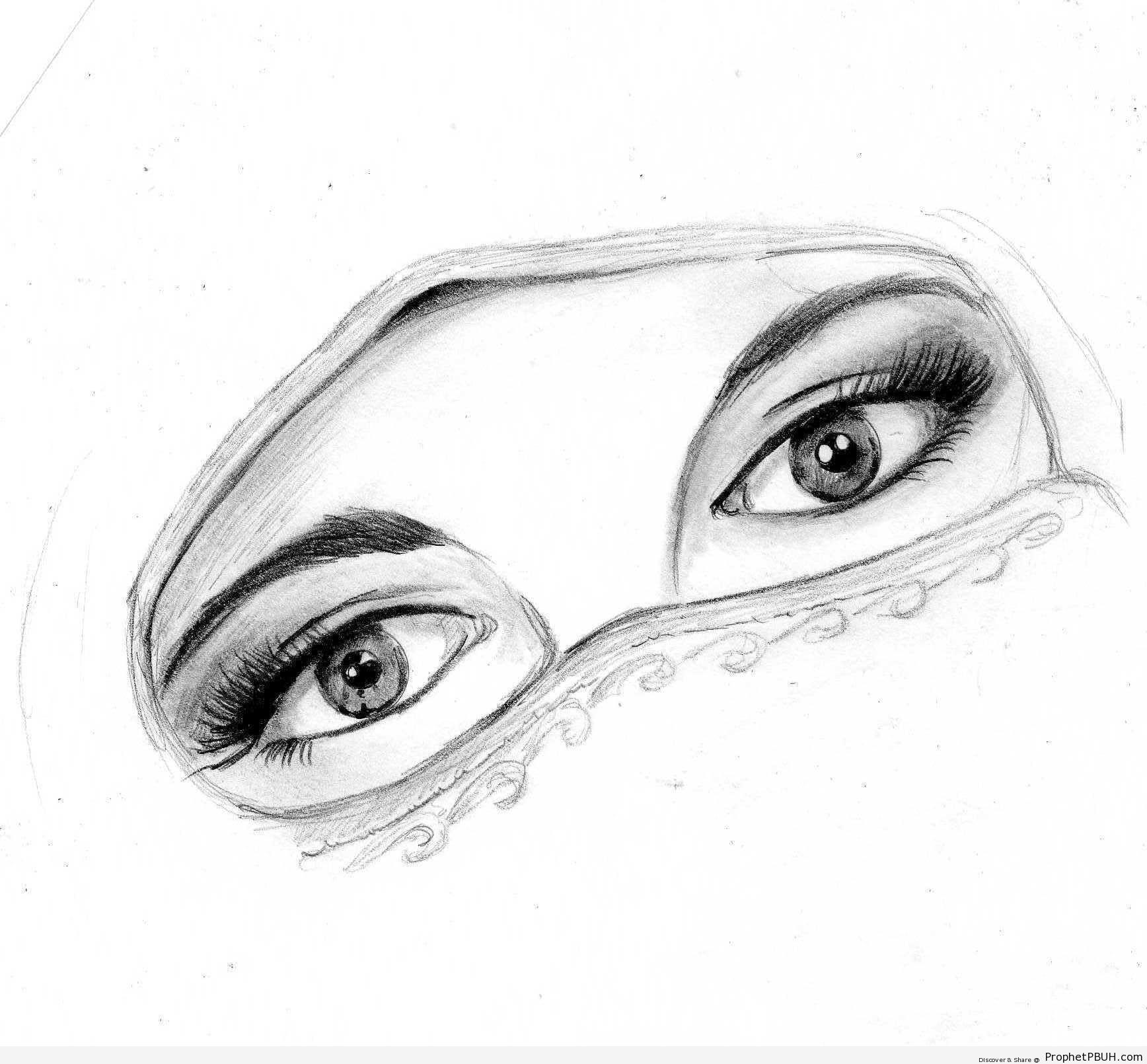 Niqab Eyes - Drawings