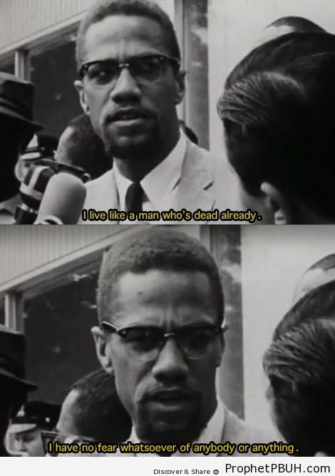 No Fear (Malcolm X Quote) - Islamic Quotes