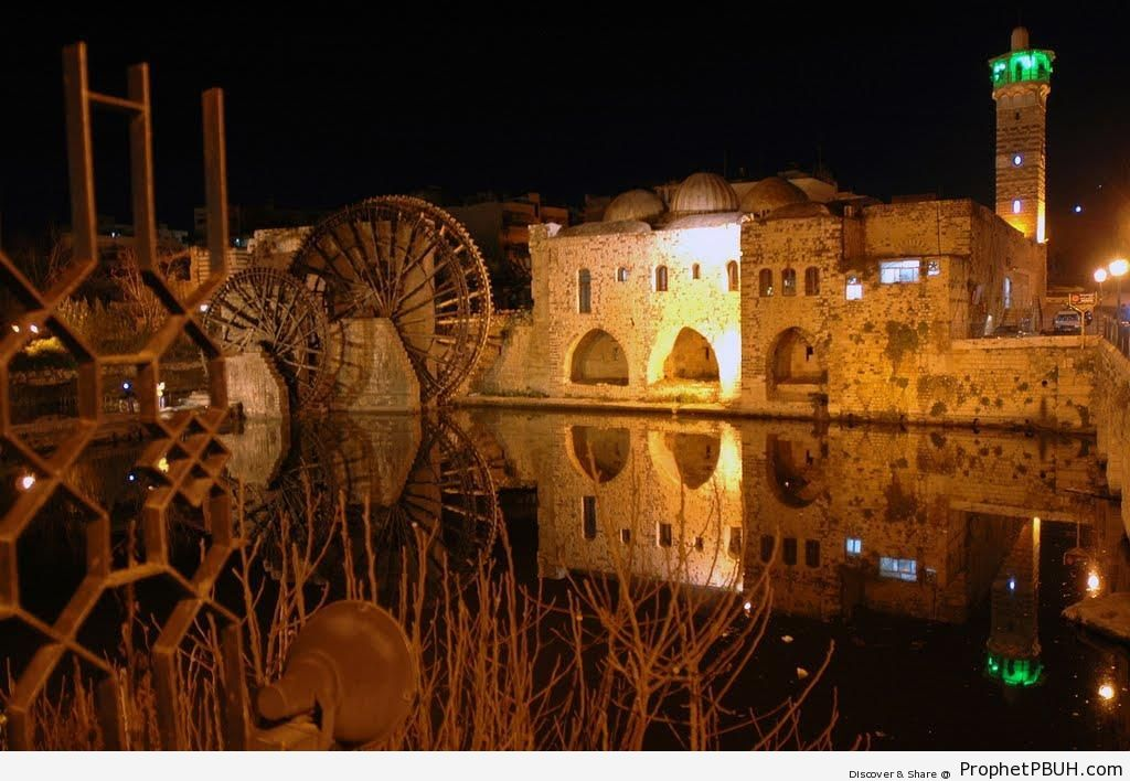 Nur al-Din Zangi Mosque (Masjid an-Nuri) on the Orontes River in Hama, Syria - Hama, Syria -Picture
