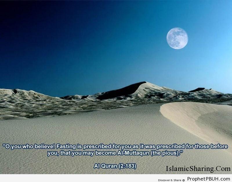 Obligation of Fasting