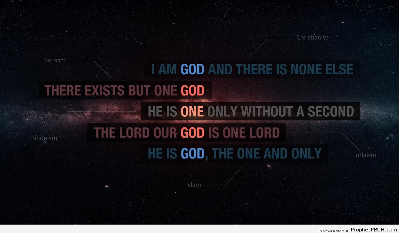 Oneness of God in Different Religions - Islamic Quotes