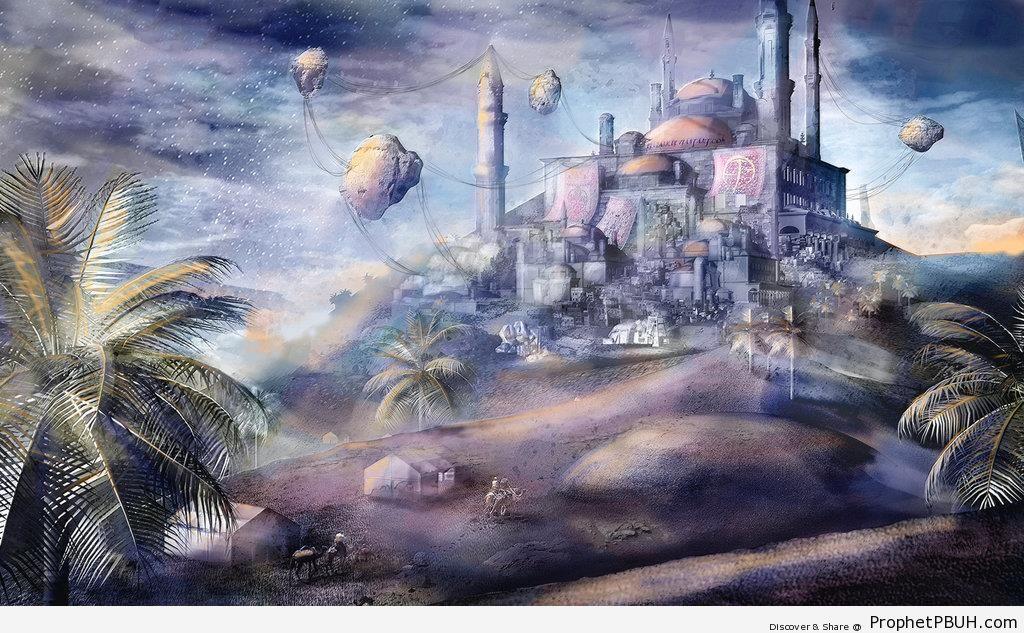 Ottoman Hilltop Citadel (Fantasy Drawing) - Drawings