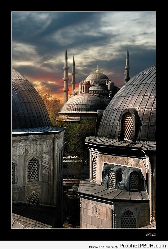 Ottoman Sky (The Blue Mosque from Hagia Sophia; Istanbul) - Hagia Sophia (Ayasofya) Museum in Istanbul, Turkey