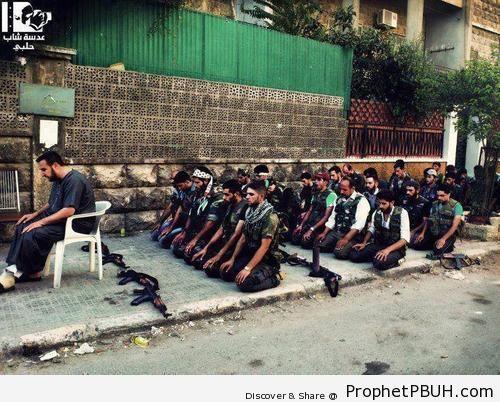 Our Brothers in Syria Making Eid Prayer (Eid al-Fitr 2012) - Photos of Eid al-Fitr 2012