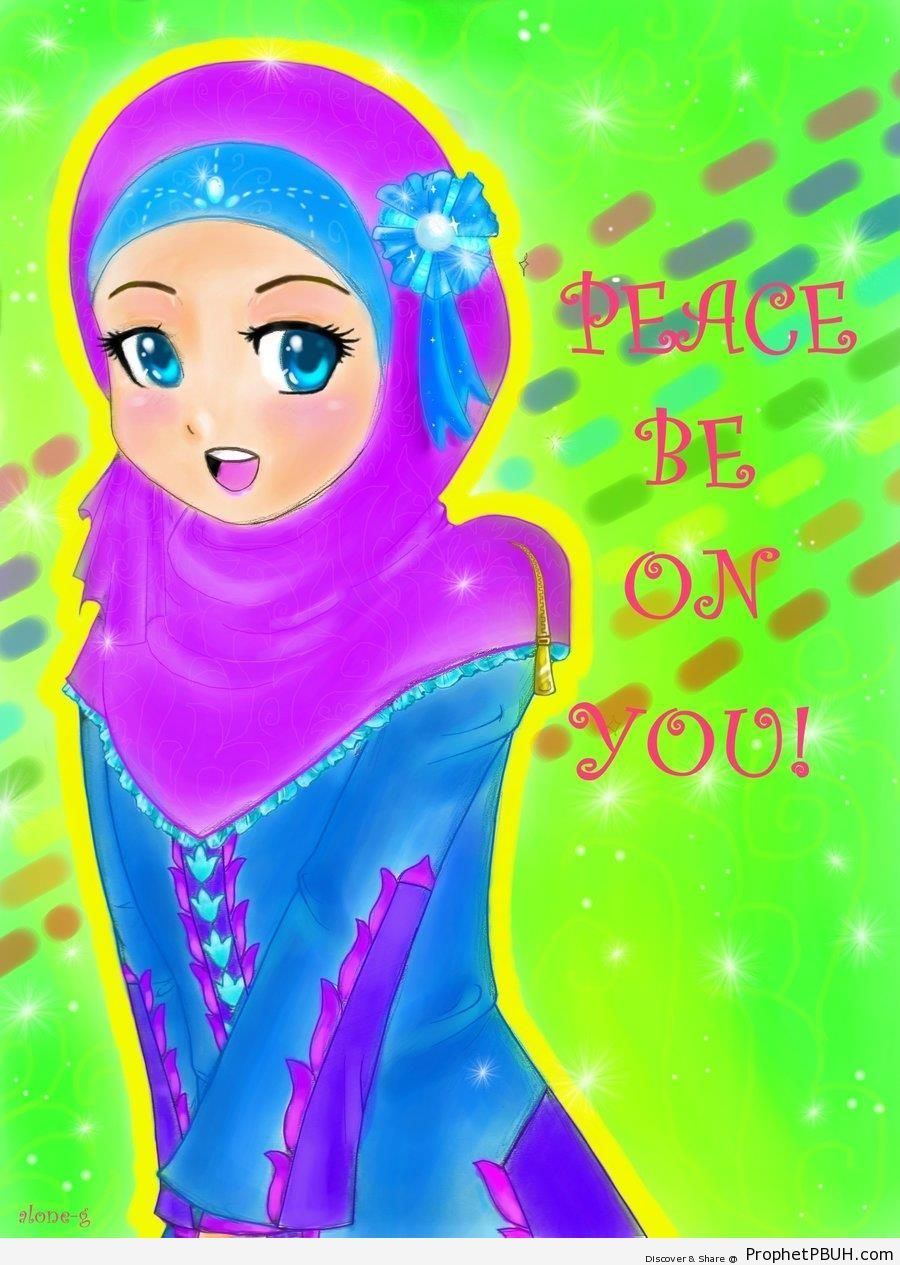 Peace be on You! [Anime Muslim Girl Drawing] - Drawings