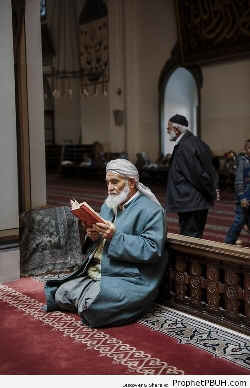 Peaceful Moment with the Quran at the Mosque - Photos