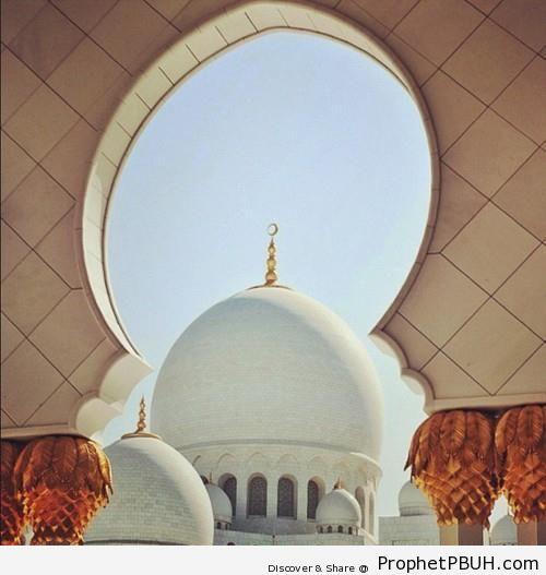 Photo of Main Dome at Sheikh Zayed Grand Mosque in Abu Dhabi - Abu Dhabi, United Arab Emirates