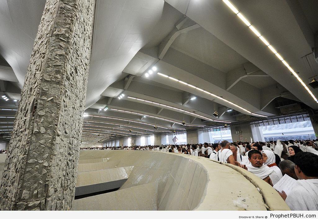 Pilgrims Performing Jamarat (Stoning of the Devil) in Mina - Photos of Haj Proceedings -
