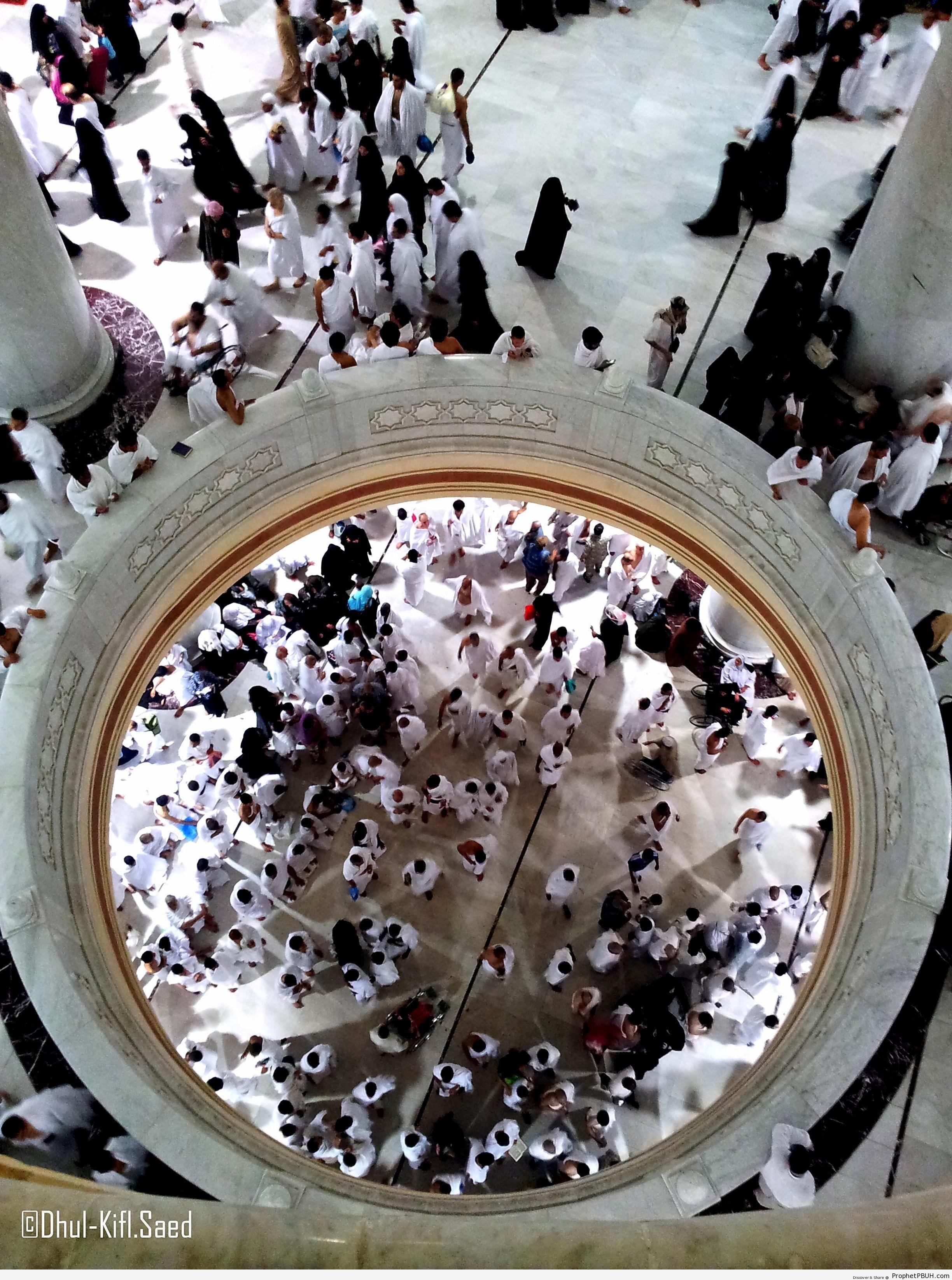 Pilgrims at Masjid al-Haram - al-Masjid al-Haram in Makkah, Saudi Arabia -Picture