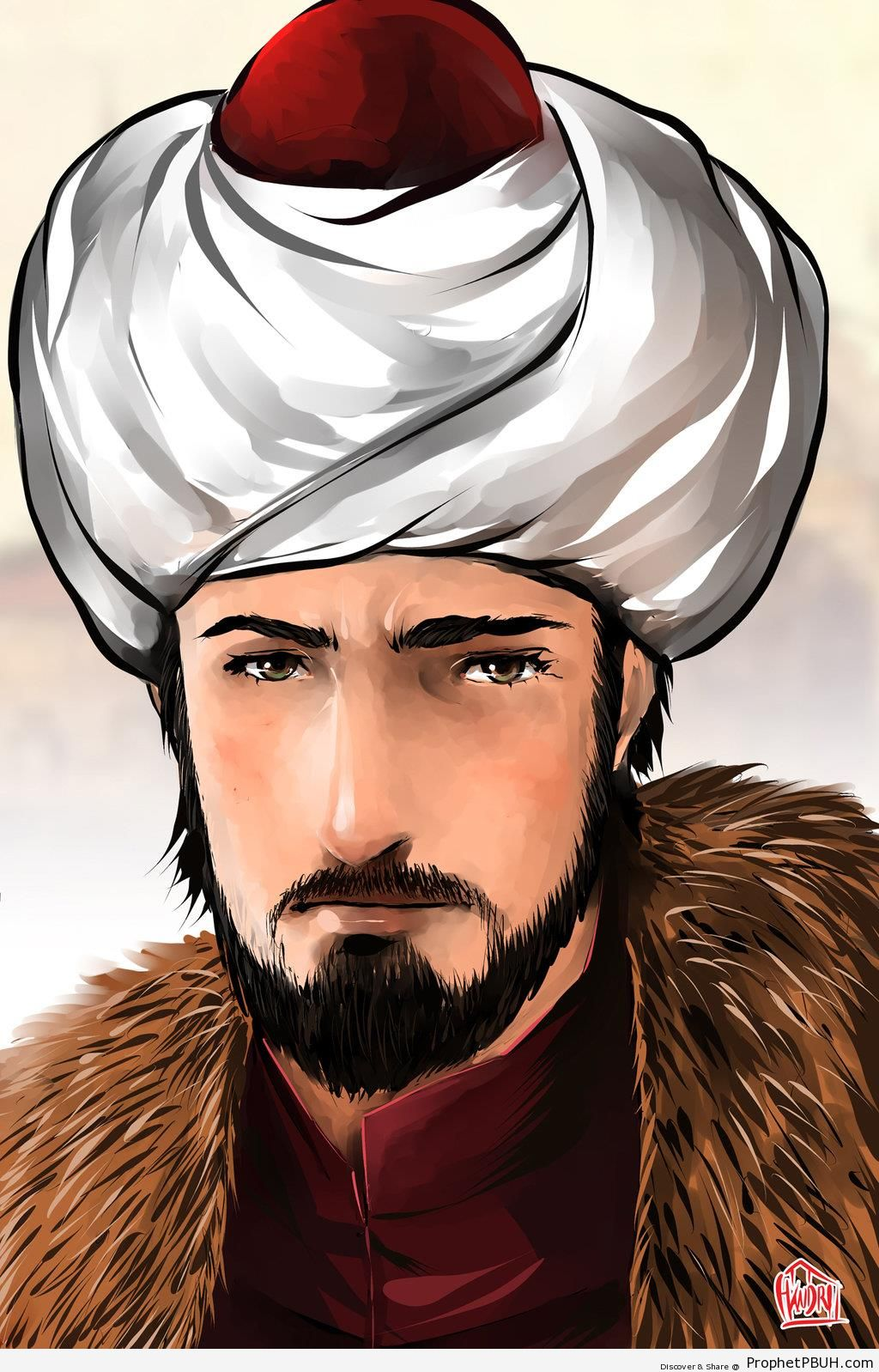 Portrait of Sultan Mehmed al-Fatih (Conqueror of Constantinople in 1453 CE) - Drawings