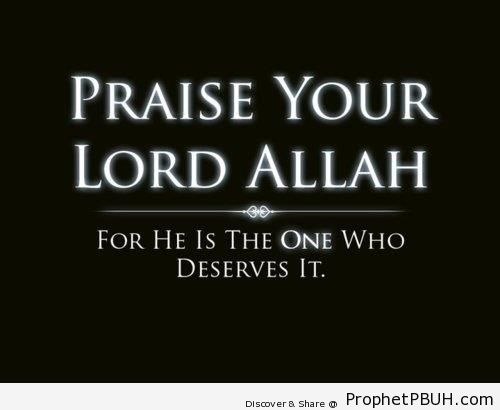 Praise Your Lord - Islamic Calligraphy and Typography