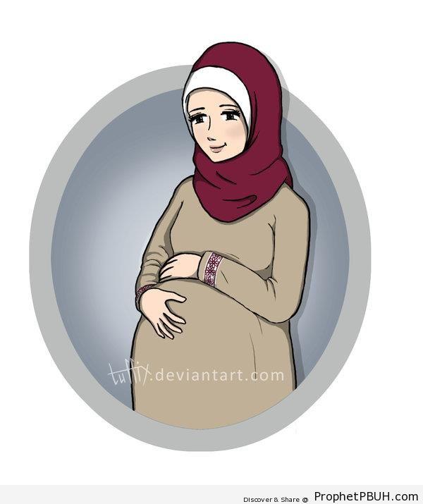 Pregnant Muslimah - Drawings