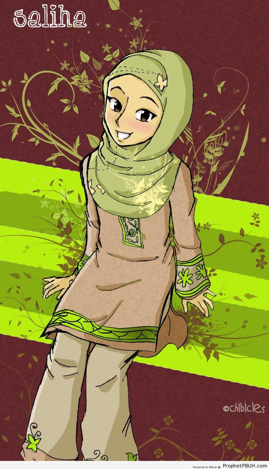 Pretty in Hijab - Drawings