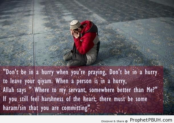 Prophet Muhammad ï·º on Hurried Prayers - Hadith