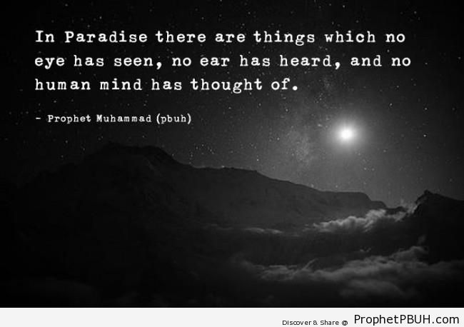 Prophet Muhammad Quote- In Paradise& - Islamic Quotes