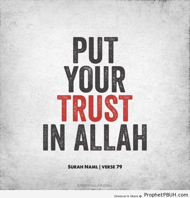 Put Your Trust in Allah - Islamic Calligraphy and Typography