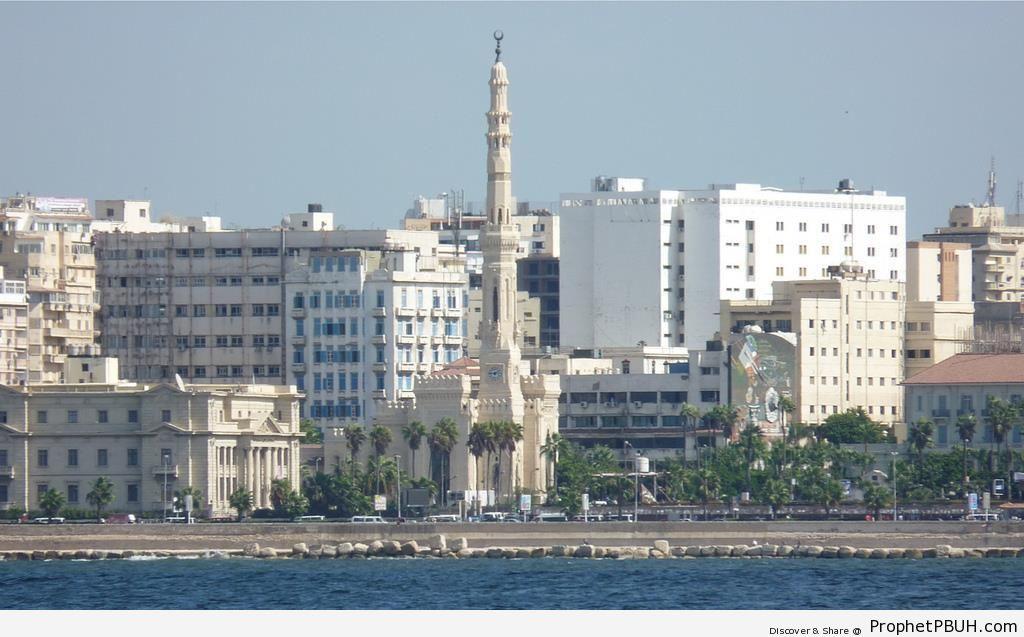 Qaed Ibrahim Mosque in Alexandria, Egypt - Islamic Architecture -Picture