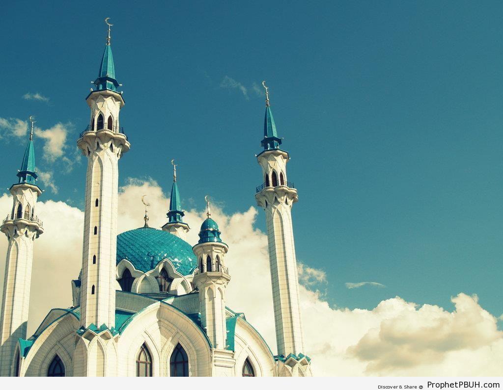 Qolsharif Mosque in Kazan, Russia - Islamic Architecture -Picture