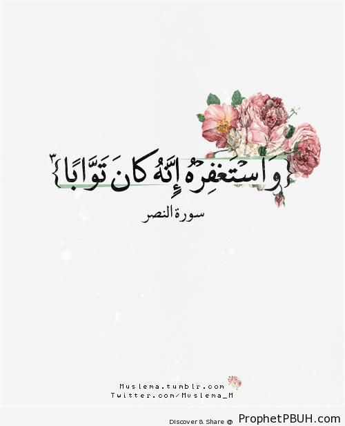 Quran 110-3 - Surat an-Nasr - Islamic Quotes