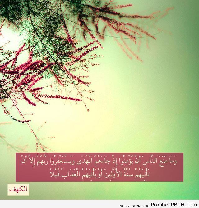 Quran 18-55 - Islamic Quotes