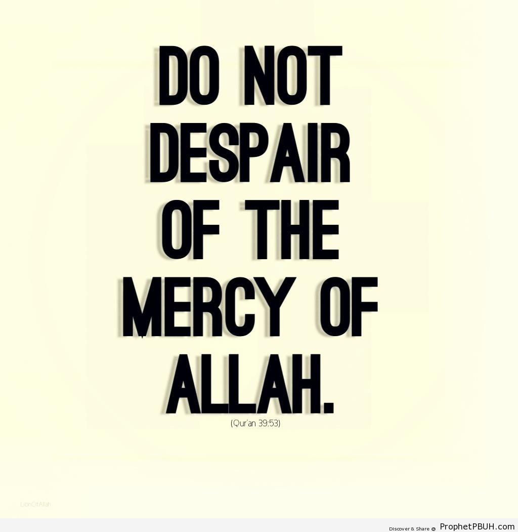 Quran 39-53 - Quran 39-53 (-...do not despair of Allah's mercy...-) -002