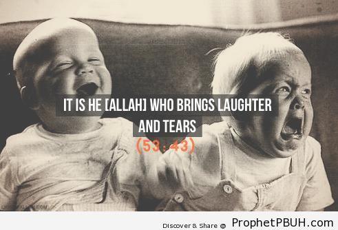 Quran 53-43 - Islamic Quotes