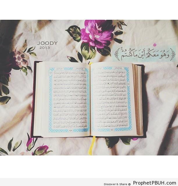 Quran 57-4 - Surat al-Hadid - Mushaf Photos (Books of Quran)