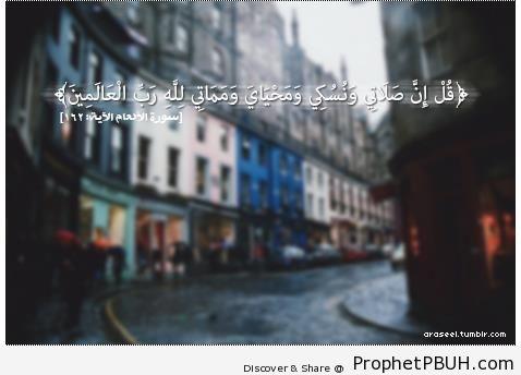 Quran 6-162 - Islamic Quotes