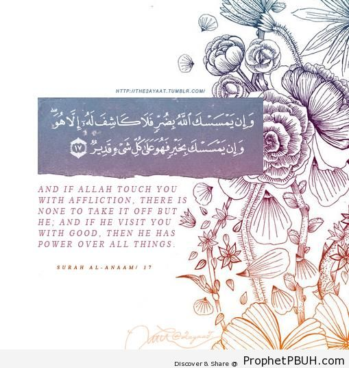 Quran 6-17 - Surat al-Anaam - Islamic Quotes