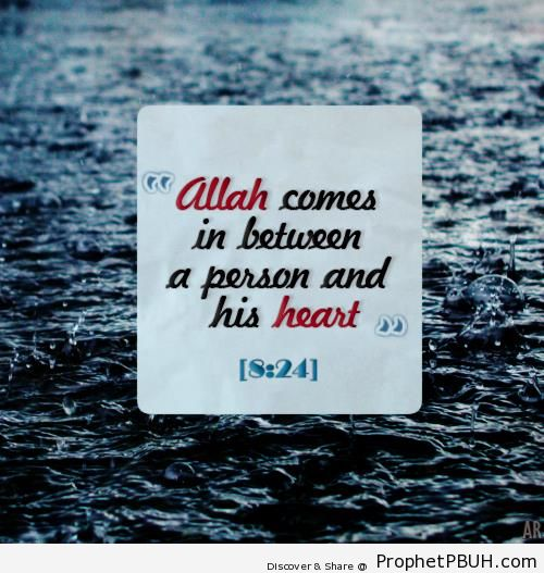 Quran 8-24 - Islamic Quotes About the Heart in Islam