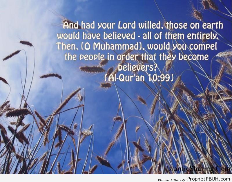 Quran Chapter 10 Verse 99