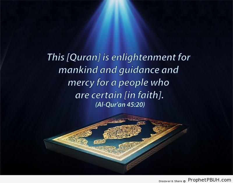 Quran Chapter 45 Verse 20