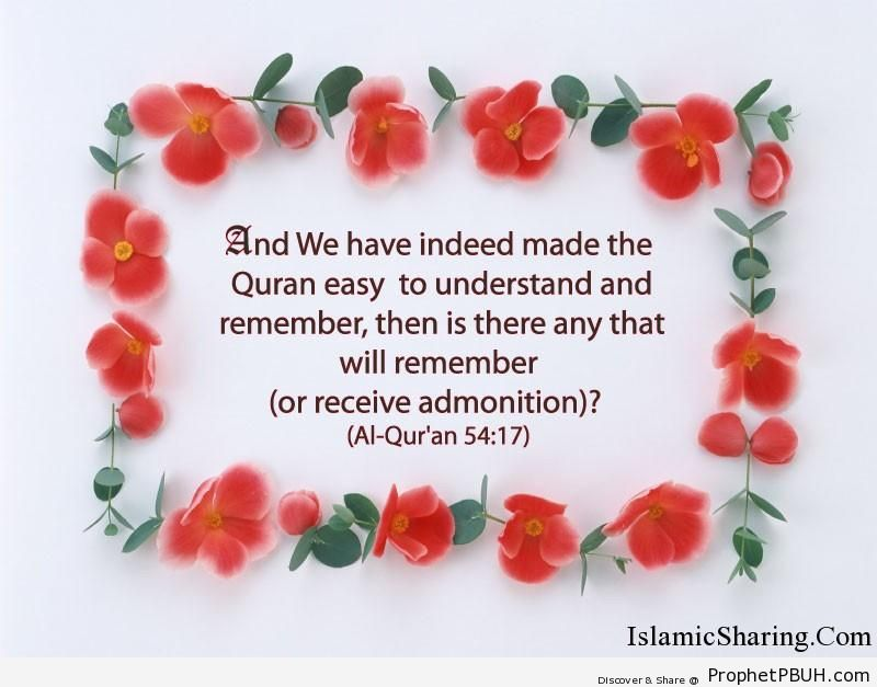 Quran Chapter 54 Verse 17