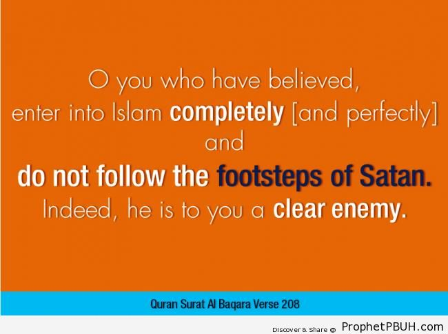 Quran- Enter into Islam completely& - Islamic Quotes