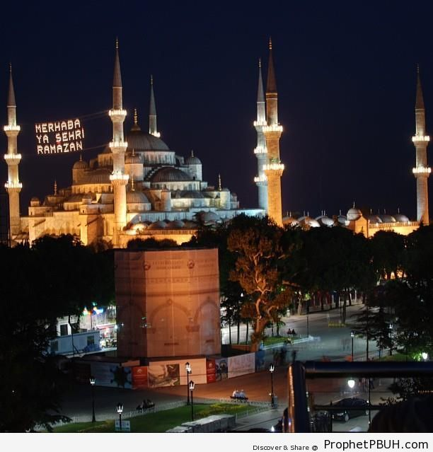 Ramadan Greetings on Sultan Ahmed Mosque (Istanbul, Turkey) - Islamic Architecture