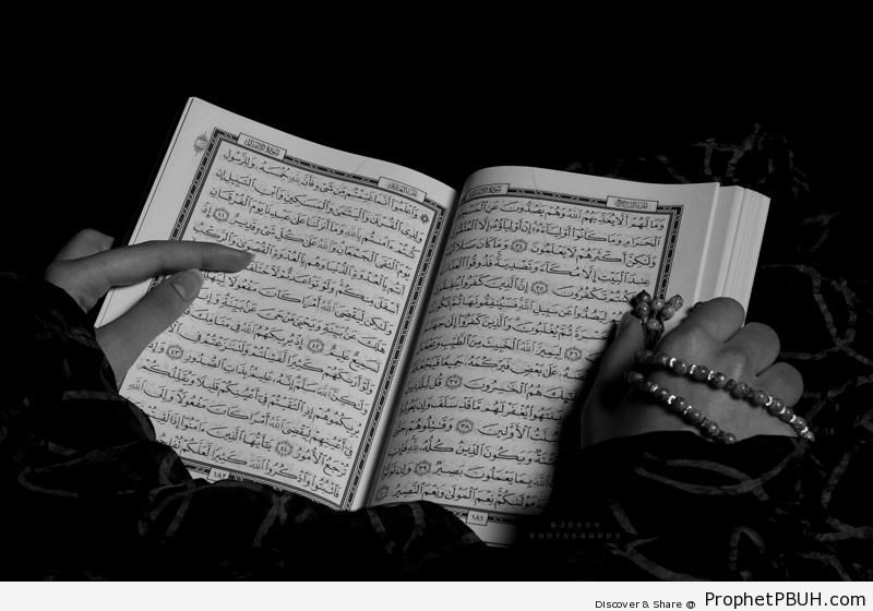 Reading Quran - Mushaf Photos (Books of Quran) -002