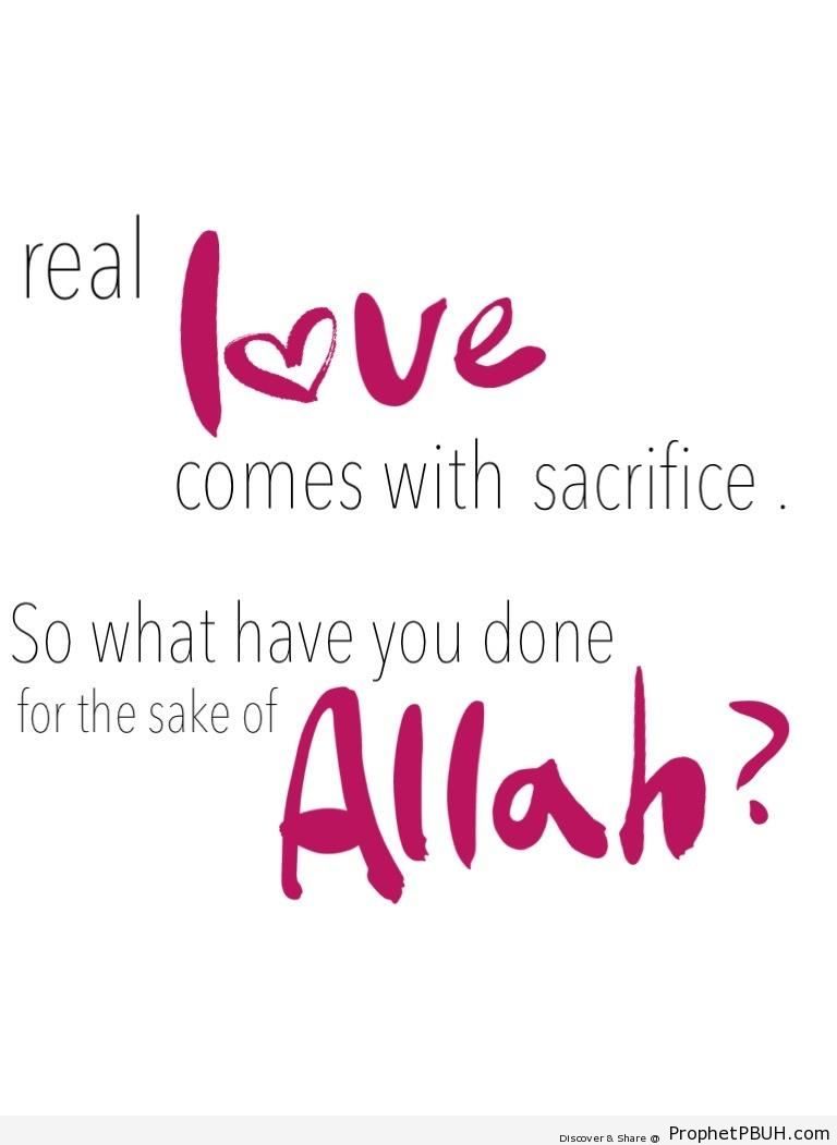 Real Love - Islamic Quotes