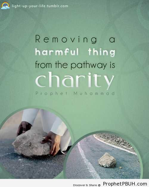 Removing a harmful thing from the pathway - Hadith