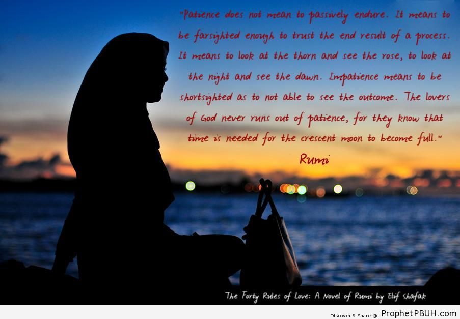 Rumi On Patience Islamic Quotes About Patience Sabr Prophet