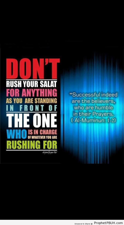 Salah Poster - Islamic Quotes